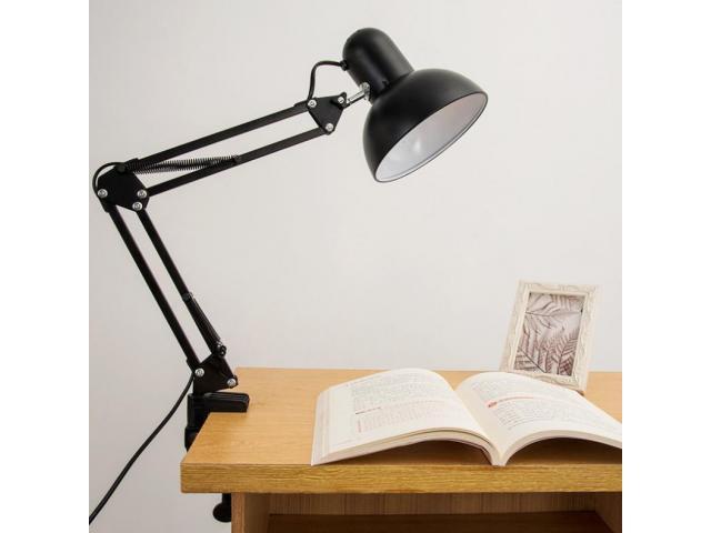 Luminária Articulada de Mesa com Base e Grampo Escritório Estudos Estilo Pixar - 4/6