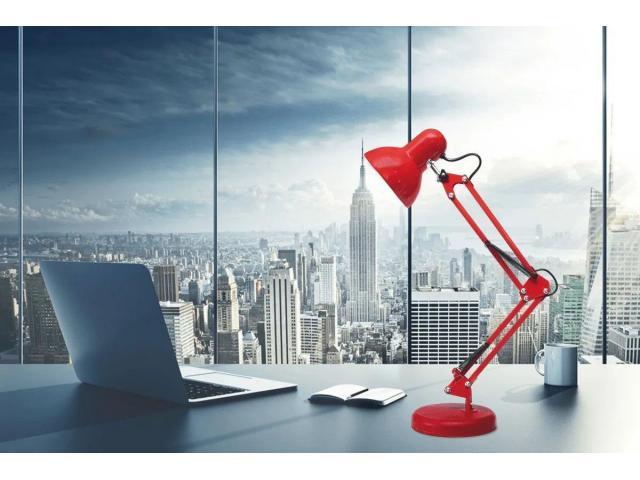 Luminária Articulada de Mesa com Base e Grampo Escritório Estudos Estilo Pixar - 5/6