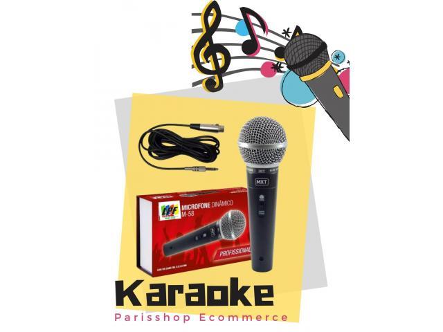 Microfone Dinâmico Profissional Sm58 Mxt M-58 + Cabo 3m Karaokê Igreja Barzinho show - 3/6