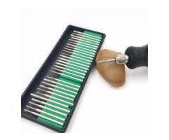 Ponteira Diamantada para Microrretifíca Jogo de com 30 Peças Acessório Micro Retífica