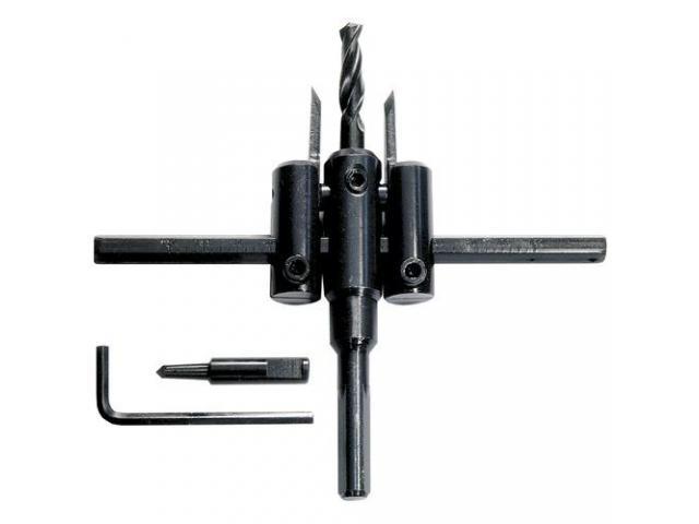 Broca Bailarina Ajustável 30-110mm Para Madeira, Gesso, Plástico - 1/2