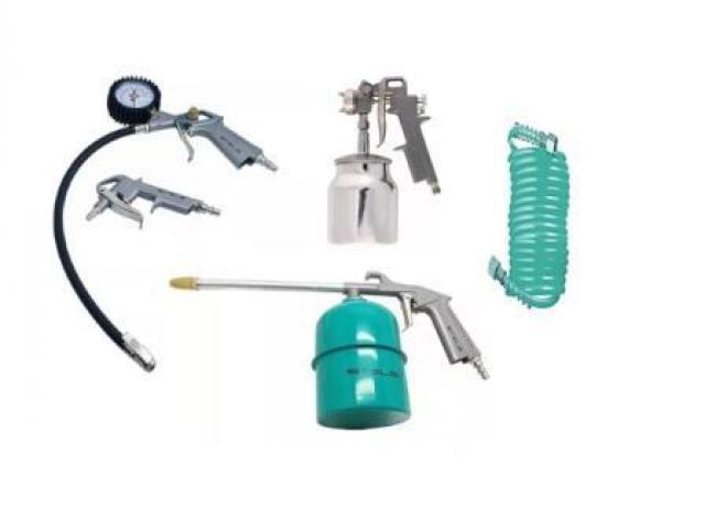 Kit Pintura Pistola para Compressor com 5 Peças - 1/2
