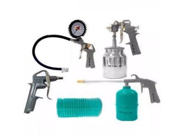 Kit Pintura Pistola para Compressor com 5 Peças - 2/2