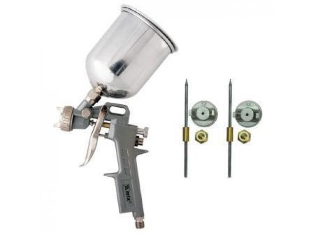 Pistola de Pintura Aluminío Tanque Alto 1L em Alumínio 3 Bicos - 1/1