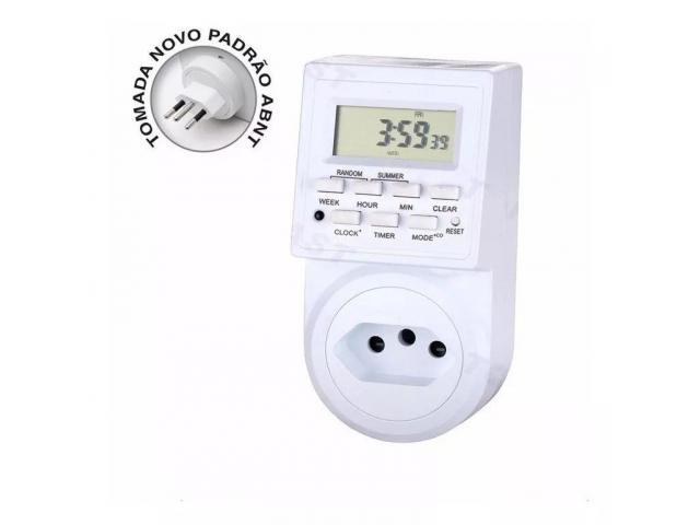 Timer Temporizador Digital Bivolt Prog Dia Liga Desliga Aparelhos Domésticos - 1/3
