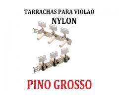 Tarraxas Para Violão tarrachas Cromada Pino Grosso e ou Fino jogo completo 6 tarraxas