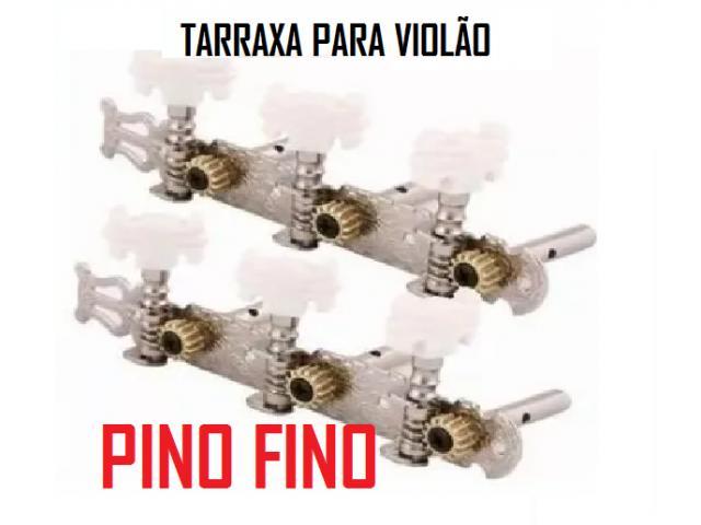 Tarraxas Para Violão tarrachas Cromada Pino Grosso e ou Fino jogo completo 6 tarraxas - 4/6