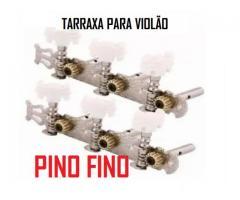 Tarraxas Para Violão tarrachas Cromada Pino Grosso e ou Fino jogo completo 6 tarraxas - Imagem 4/6