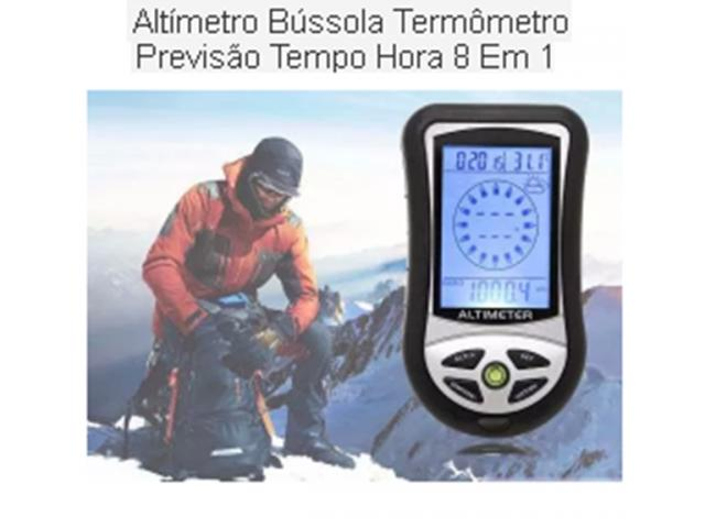 Barômetro Altímetro Bússola Termômetro Dig Tempo Rel 8 Em 1 - 2/2