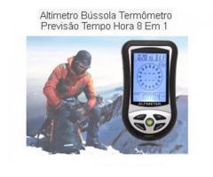 Barômetro Altímetro Bússola Termômetro Dig Tempo Rel 8 Em 1