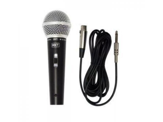 Microfone Dinâmico Profissional Sm58 Mxt M-58 + Cabo 3m Karaokê Igreja Barzinho show - 2/2