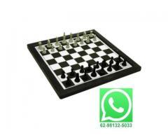 Jogo de Xadrez e Trilha 2 em 1