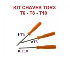Chave Torx com Furo T6 T8 T10 P/ Abrir Ps3 Ps4 Xbox 360 Xbox One - Promoção