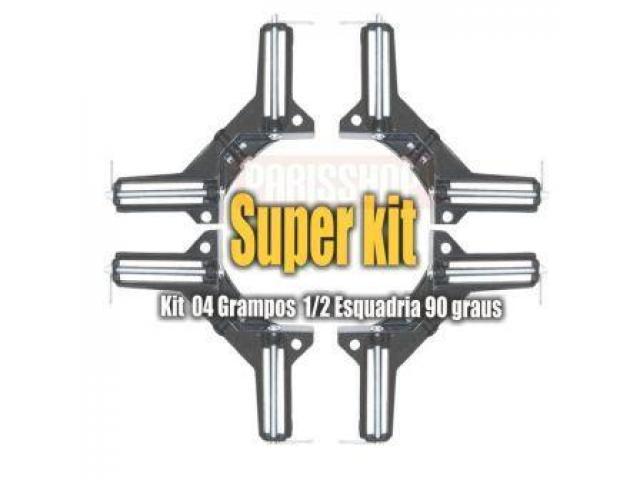 Grampo Sargento Angular 90 Graus - Kit com 4 Grampos - 1/5