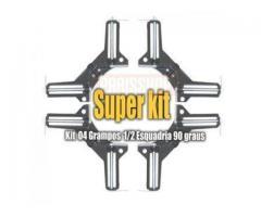 Grampo Sargento Angular 90 Graus - Kit com 4 Grampos