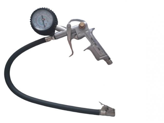 Calibrador de Pneu com Manômetro para Uso em Compressor - 1/3
