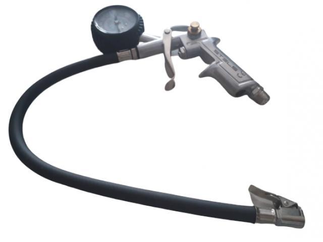 Calibrador de Pneu com Manômetro para Uso em Compressor - 2/3