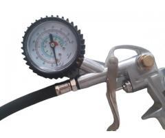 Calibrador de Pneu com Manômetro para Uso em Compressor