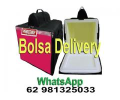 Bolsa térmica  Motoboy Bag Entrega tipo IFood Pizzas lanches c/ Isopor - Imagem 1/6