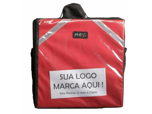 Bolsa térmica  Motoboy Bag Entrega tipo IFood Pizzas lanches c/ Isopor - 2/6