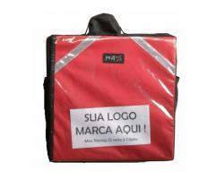 Bolsa térmica 45 litros Motoboy Bag Entrega tipo IFood Pizzas lanches c/ Isopor