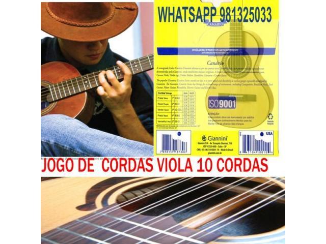 Encordoamento para Viola 10 Cordas 011 - Jogo Corda para Viola c/ Chenilha - 1/5