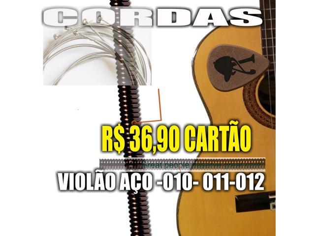 Encordoamento p/ Violão 010 jogo de Corda acoustic guitar cobra fosforo - 3/4