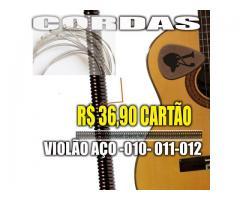 Encordoamento p/ Violão 010 jogo de Corda acoustic guitar cobra fosforo - Imagem 3/4