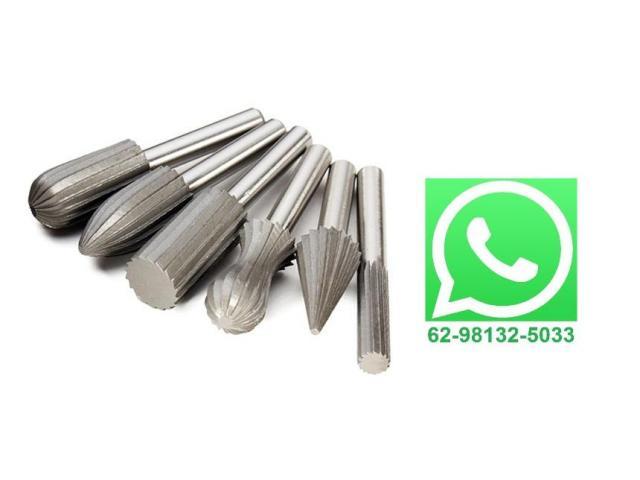 Lima Rotativa Metal Fresar Desbastar Arestas Jogo com 6 Pcs - 1/3
