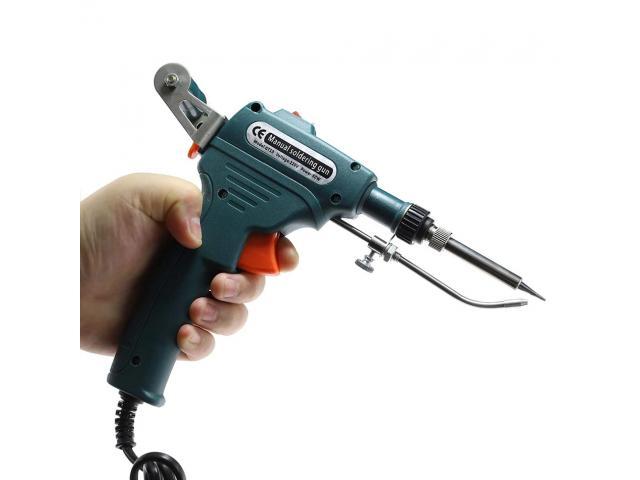 Pistola de solda  60w Ferro de solda  Semi automatico roleta p/ estanho tipo  carretel - 1/6