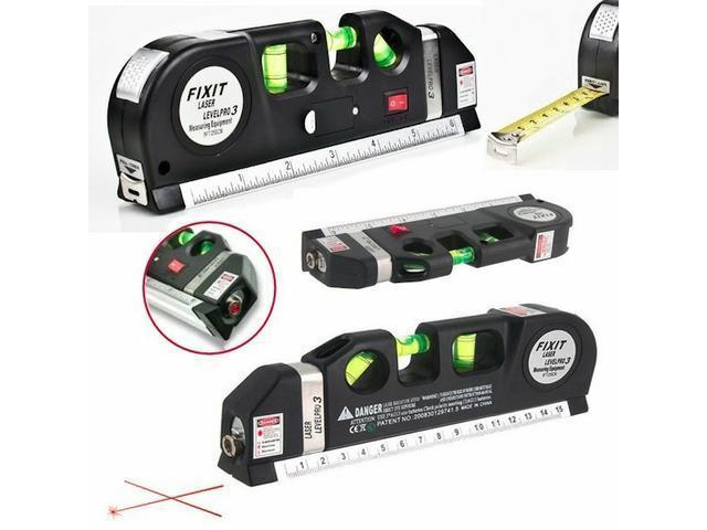 Nível a laser  a Laser com Trena de mão portatil 3x 1 - 2/4