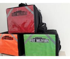 Bolsa térmica 45 litros Motoboy Bag Entrega tipo IFood Pizzas lanches c/ Isopor - Imagem 5/6
