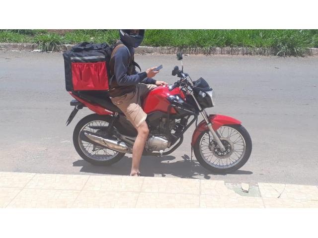 Bolsa térmica 45 litros Motoboy Bag Entrega tipo IFood Pizzas lanches c/ Isopor - 6/6