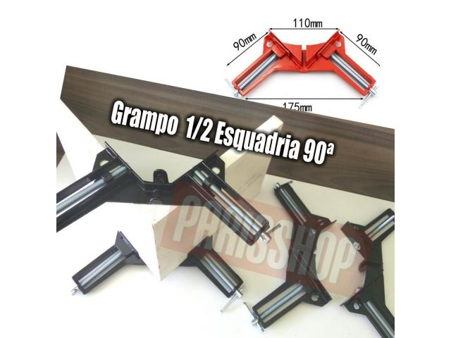 Grampo Sargento Angular 90 Graus - Kit com 4 Grampos - 4/5