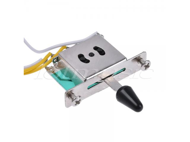Kit Elétrica P/ Guitarra Stratocaster Reparo Chave 5 Posições 1 Volume 2 Tone 250 k 1 Power jack - 5/6
