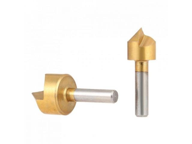 Escareador Titanium Fresa Rebaixo Madeira & Alumínio Jogo com 5 peças - 2/2