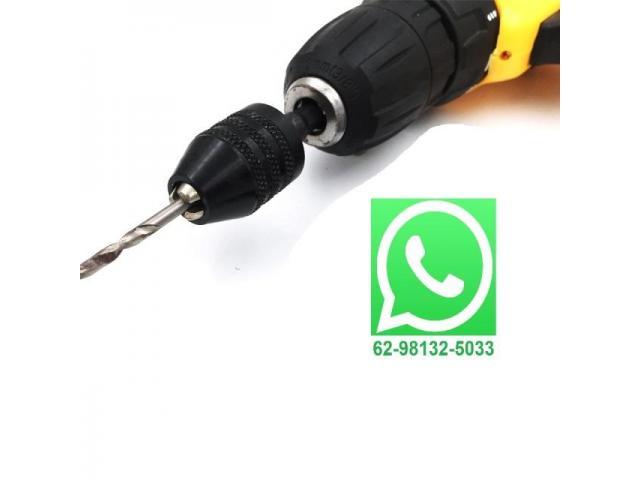 Mini Mandril Sextavado 1/4 Para Parafusadeiras 0.3-6.5mm - 1/2