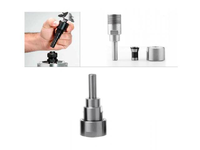 Prolongador Extensor Adaptador para Fresa Tupia Encaixe e Haste 8mm - 2/2