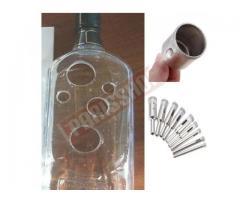 Fura Vidro garrafa Broca Diamantada p Vidro Mármore porcelanato Kit 10 pcs