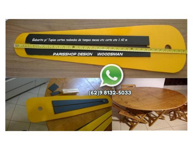 Gabarito Para Tupia Manual - Corte Circular, Tampo de Mesas etc - 1/2