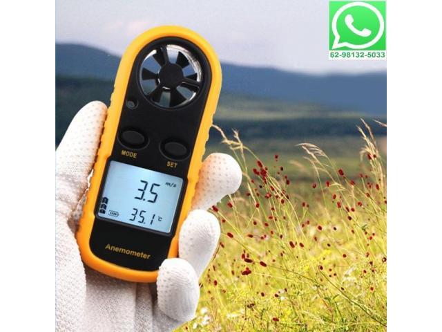 Anemômetro Medidor Vento e Temperatura Digital Portátil - 1/2