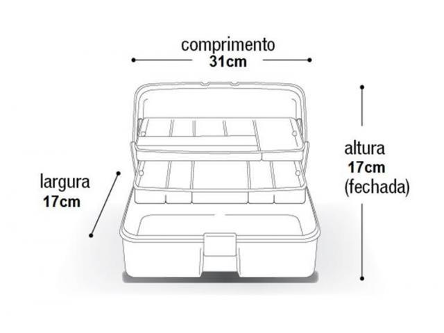 Caixa Multiuso com Bandeja Articulada - Ferramentas Pesca Costura etc - 3/3