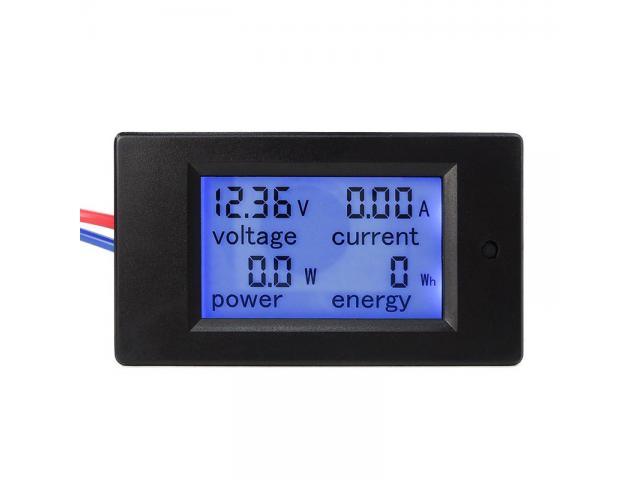 Voltímetro DC Wattímetro Amperímetro 4 em 1 6.5V a 100VDC 100A PZEM-051 - 1/5