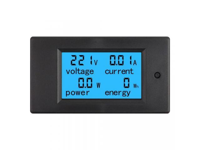 Voltímetro AC Wattímetro Amperímetro 4 Em 1 80V a 260VAC 100A - PZEM-061 - 3/6