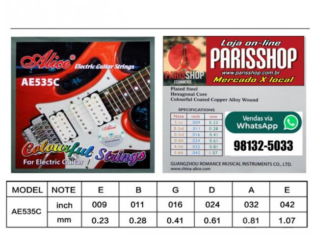 Jogo de Corda Colorida para Guitarra 0.9 - 3/3