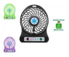 Mini Ventilador Pessoal Portátil Recarregável Com 3 Velocidades