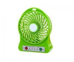 Mini Ventilador Pessoal Portátil Recarregável Com 3 Velocidades - Imagem 4/4