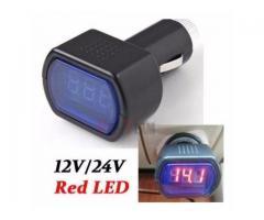 Voltímetro Veicular Digital 12v 24v Bateria Automotivo Carro