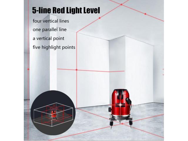Nível Laser 5 Linhas 6 Pontos Auto Nivelamento + Óculos - 4/6