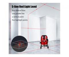 Nível Laser 5 Linhas 6 Pontos Auto Nivelamento + Óculos - Imagem 4/6